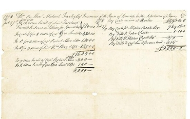 1778 Monies Recruiting Continental Army Soldiers
