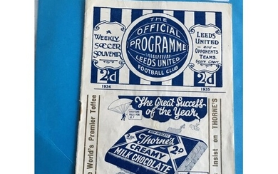 1935 FA Cup Semi Final Football Programme: West Brom v Bolto...