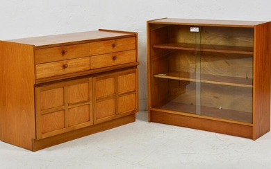 2 Mid Century Modern Cabinets / Bookcases