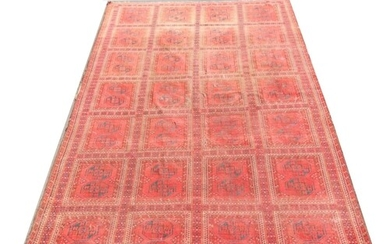 A 19th century Bokhara rug, decorated with multiple square p...