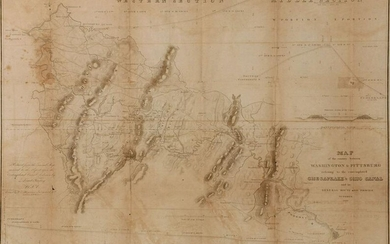 A CHESAPEAKE & OHIO CANAL MAP DATED 1826