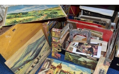 A COLLECTION OF MODEL TOY THEATRES AND ACCESSORIES, includin...