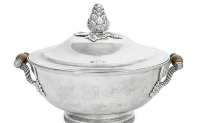 A George III Silver Divided Warming Dish