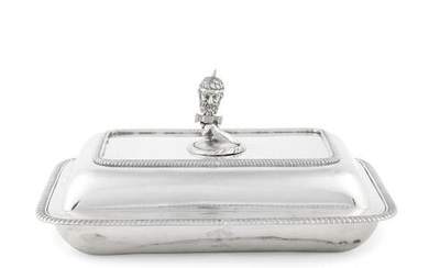 A George III silver entrée dish and cover