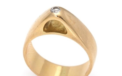 A diamond ring set with a brilliant-cut diamond, mounted in 18k gold. Design 842. Size 56. Georg Jensen after 1945. – Bruun Rasmussen Auctioneers of Fine Art
