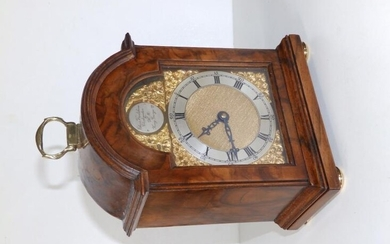A small early 20thC walnut bracket clock by Charles...