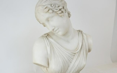 After Canova: Marble Bust of a Woman