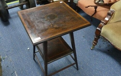 An Edwardian inlaid rosewood Occasional Table, of square for...