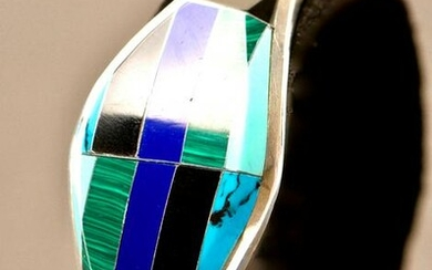 Mexican Sterling, Turquoise, Malachite & Lapis Stone