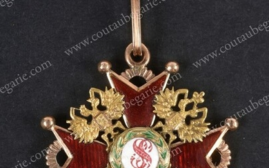 ORDER OF SAINT STANISLAS (Russia). Gold and...