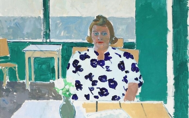 NOT SOLD. Olaf Rude: Portrait of woman. Signed Olaf Rude 44. Oil on canvas. 80 x 100 cm. – Bruun Rasmussen Auctioneers of Fine Art