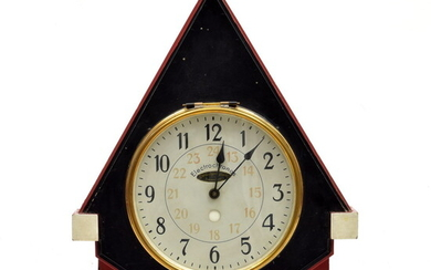 Painted wooden 'Haagse School' wall clock, designer & execution unknown...