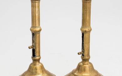 Pair of French candlesticks, first half of 18th Century.