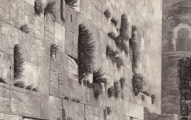 Photo of a Picture of the Wailing Wall, Jerusalem