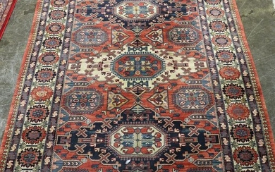 Room Size Hand Knotted Rug - 9'10 x 6'7