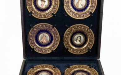 SET OF 8 ROYAL VIENNA STYLE PORTRAIT PLATES