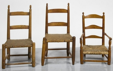 Three Early Child's Chairs