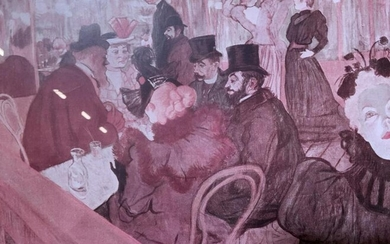 Toulouse Lautrec At the Moulin Rouge Lithograph