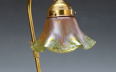 table lamp, Lötz, around 1902-04, with lustre...