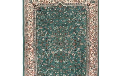 6'4 x 8'11 Hand-Knotted Indo-Persian Tabriz Rug, 2010s