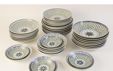 A Chinese porcelain dinner service, 20th century, comprising...