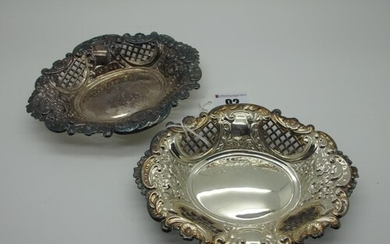 A Pair of Victorian Style Hallmarked Silver Bonbon Dishes, B...