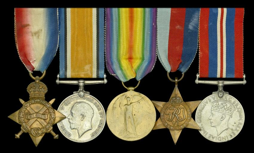 A small collection of medals to the Essex Regiment