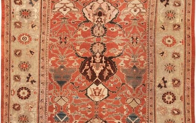 ANTIQUE PERSIAN SULTANABAD CARPET. 13 ft 5 in x 9 ft 10 in (4.09 m x 3 m).