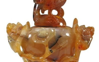 Antique Chinese agate bottle