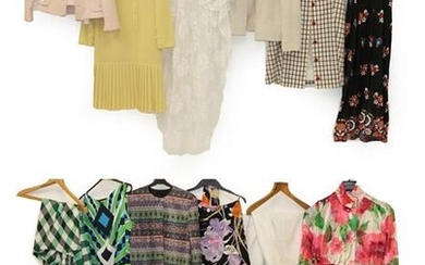 Assorted Circa 1960-70 Ladie's Costume, comprising a long sleeved shirt...
