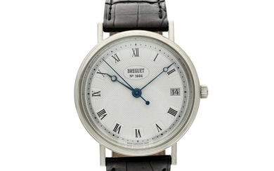 Reference 5910 Classique A white gold wristwatch with date, Circa 2000, Breguet
