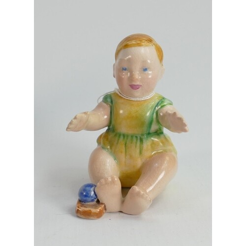 Beswick rare figure of a seated toddler: height 8.5cm (resto...