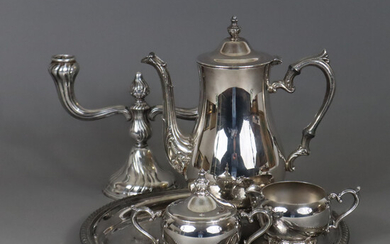 COFFEE CORE and CANDLESTICK - silver-plated.