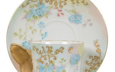 Cup And Saucer, No Studio Mark