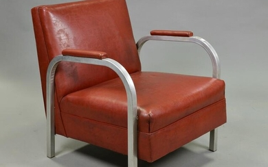 Deco / Mid Century Armchair with Metal Sides