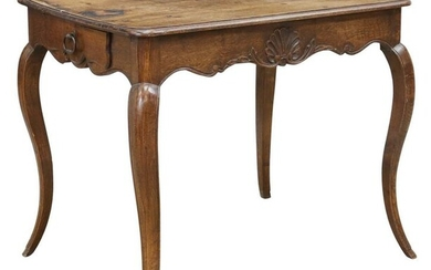 FRENCH PROVINCIAL LOUIS XV STYLE OAK WORK TABLE