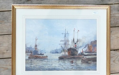 Frederick William Scarborough watercolour titled Woolwich Re...
