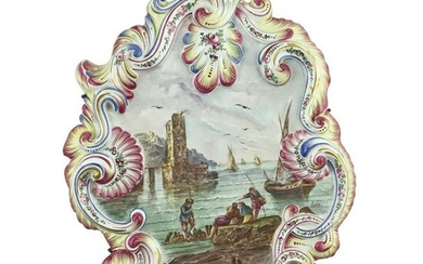 Hand-painted French earthenware plaque.