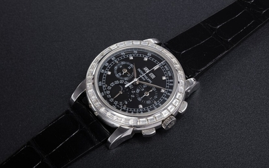 PATEK PHILIPPE, REF. 5971P, A PLATINUM AND DIAMOND-SET PERPETUAL CALENDAR CHRONOGRAPH