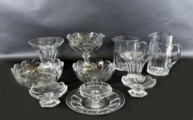 TEN HEISEY GLASS CO. COLORLESS GLASS TABLEWARES