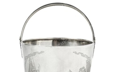 VODKA BOWL IN THE FORM OF A SILVER BASKET....