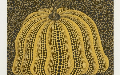 Yayoi Kusama, Japanese b.1929- Pumpkin 2000 (Yellow) [Kusama 298], 2000; screenprint in colours on wove signed, titled and numbered 134/200 in pencil, published by the Serpentine Gallery, London, sheet 48 x 64cm (framed) Provenance: The Serpentine...