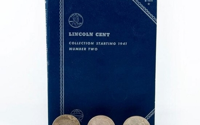 3 Liberty One Dollar Coins and Lincoln Cent Book