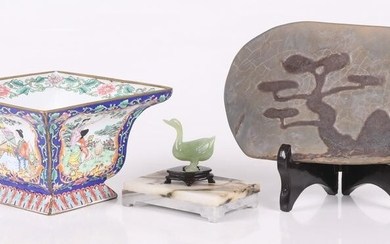 A Group of Chinese Items Including Jade