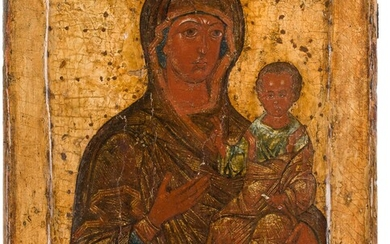 A LARGE ICON SHOWING THE SMOLENSKAYA MOTHER OF GOD Russian,...