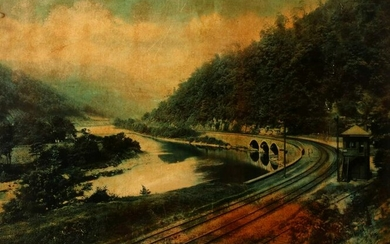 A PRINTED MURAL ATTRIBUTED TO THE B & O COLUMBIAN