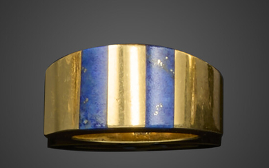 A gold and lapis lazuli ring by Tiffany & Co.
