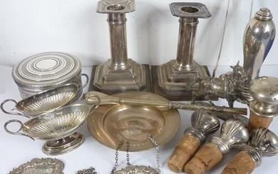 A good selection of various silver and silver plate etc. to ...
