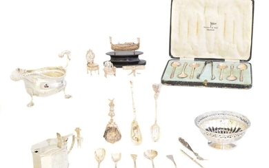 A selection of silver and silver plate