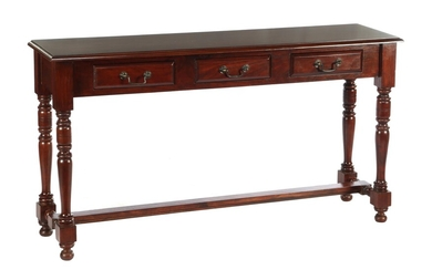 (-), After antique model mahogany side table with...